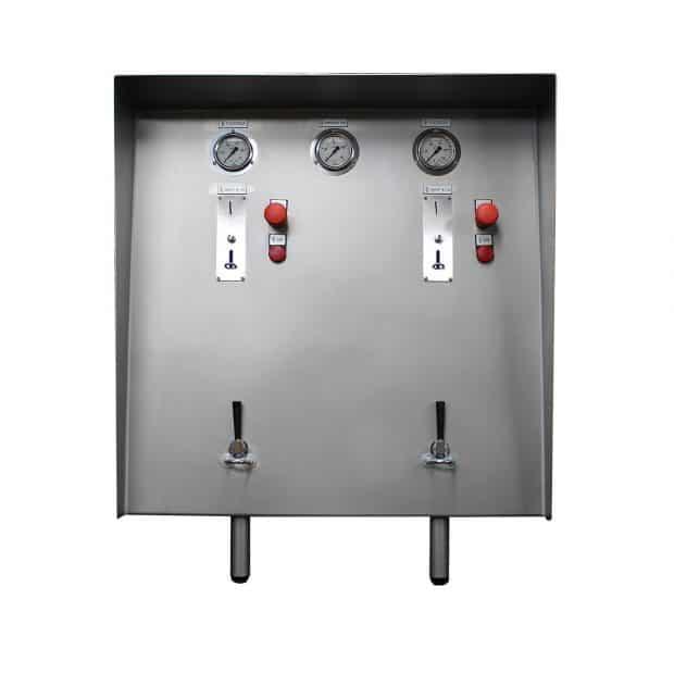 Muntautomaat met 2 muntproevers
