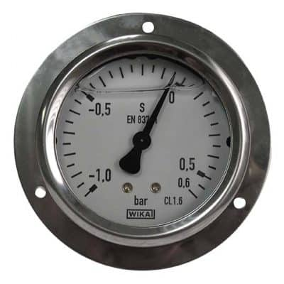 Manometer achteraansl. 0,6 Bar