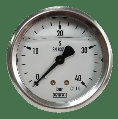 Manometer achteraansl. 40 Bar