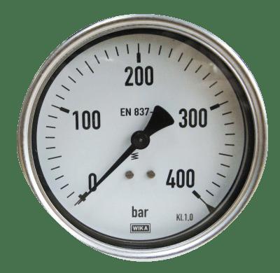 Manometer achteraansl. 400 Bar