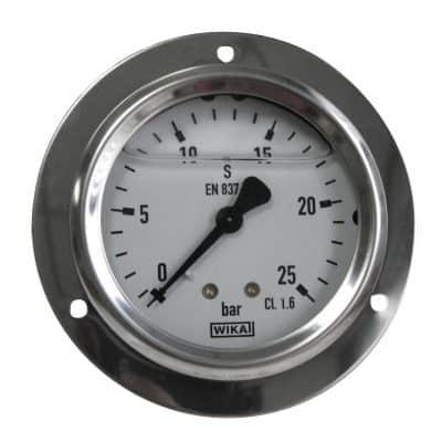 Manometer 25B-1/4-AA-GL-FL-RVS