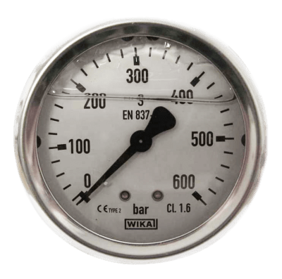 Manometer achteraansl. 600 Bar