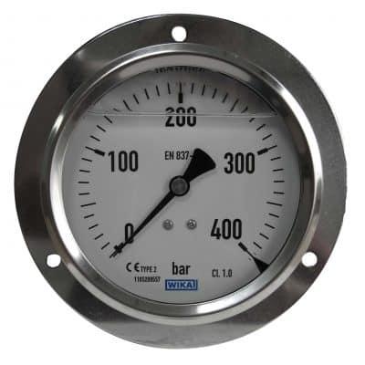 Pressure gauge back connection 400 Bar