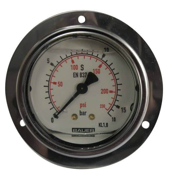 Manometer achteraansl. 16 Bar