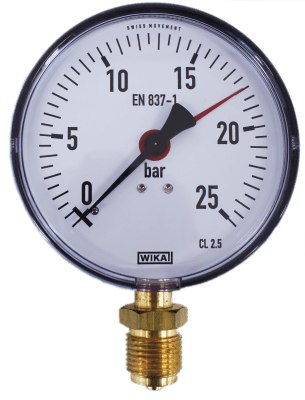 Manometer onderaansl. 25 Bar