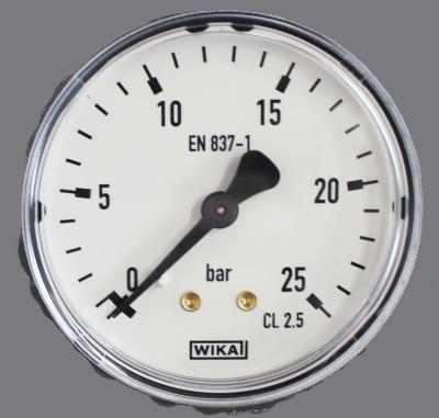 Manometer achteraansl. 25 Bar