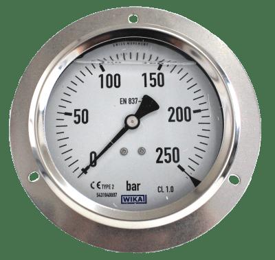 Manometer achteraansl. 250 Bar