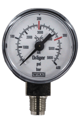 Manometer onderaansl. 400 Bar