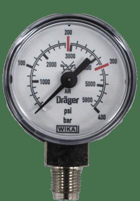 Pressure gauge bottom connection 400 Bar