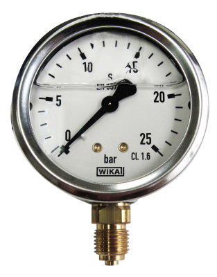 Manometer onderaansl. 10 Bar