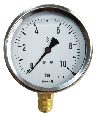 Manometer onderaansl. 10 Bar