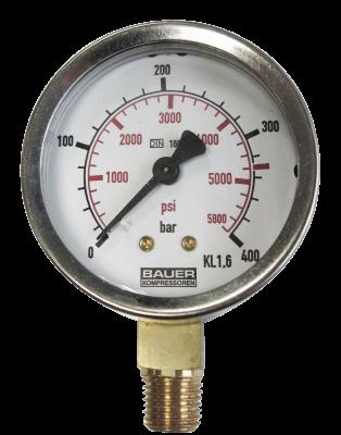 Manometer onderaansl. 400 Bar