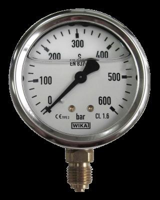 Pressure gauge bottom connection 600 Bar