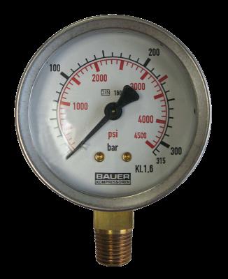Manometer onderaansl. 315 Bar