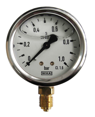 Manometer onderaansl. 1 Bar