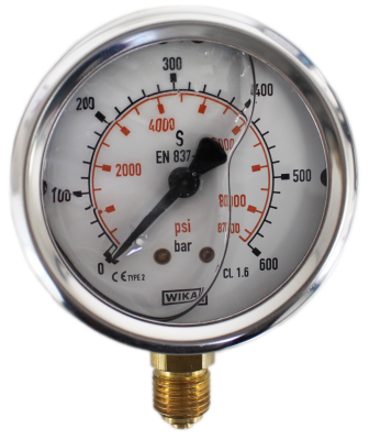 Manometer onderaansl. 600 Bar