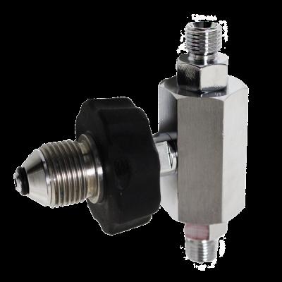 Vuladapter T-stuk Zuurstof Bullnose 2×1/4  200 Bar