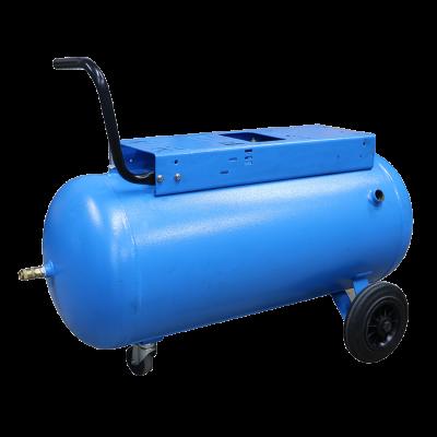 Ketel 90 liter blauw op wielen