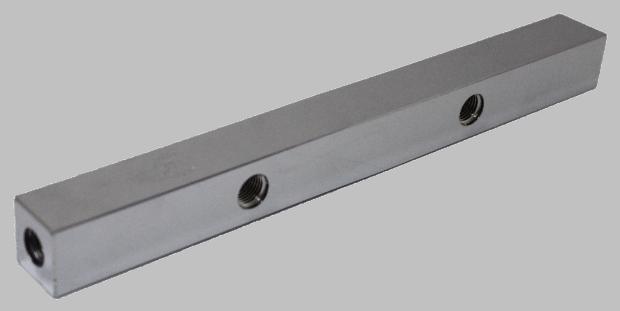 Verdeelblok hoge druk 7 aansluitingen ¼