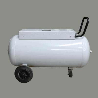 Ketel 90 liter wit op wielen