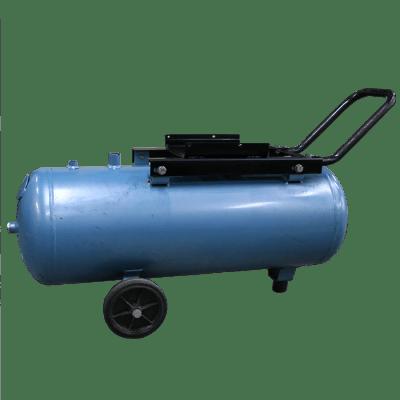 Ketel horizontaal 50 liter grijs op wielen