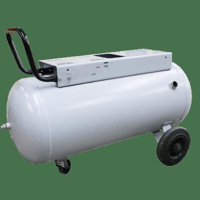 Ketel horizontaal 90 liter wit op wielen