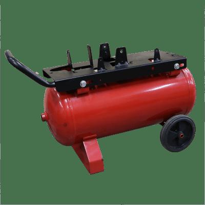 Ketel horizontaal 24 liter rood op wielen