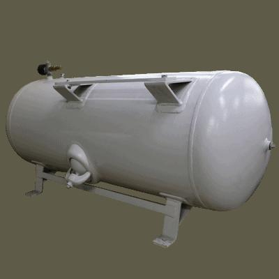 Compressed air tank horizontal 250 liter white
