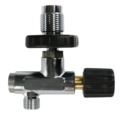 Filling valve with rotary valve DIN 200 Bar