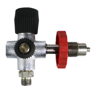 Filling valve with rotary valve DIN 300 Bar