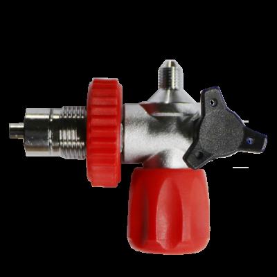 Filling valve with rotary valve JIC-DIN 300 Bar