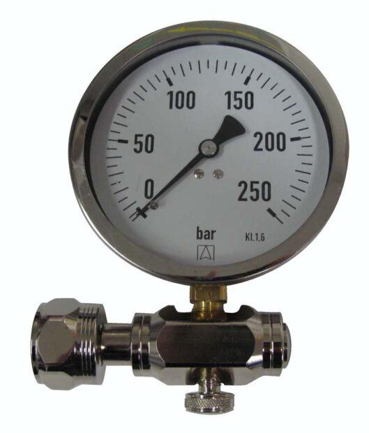 Testdrukmanometer tot 250 Bar
